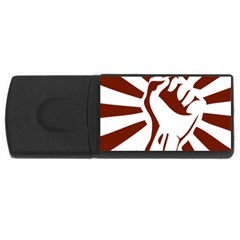 Fist Power 4gb Usb Flash Drive (rectangle) by youshidesign