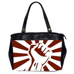 Fist Power Oversize Office Handbag (two Sides) by youshidesign