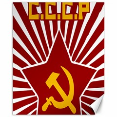 Hammer And Sickle Cccp Canvas 11  X 14  by youshidesign