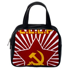 hammer and sickle cccp Classic Handbag (One Side) by youshidesign
