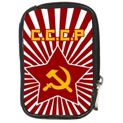 Hammer And Sickle Cccp Compact Camera Leather Case by youshidesign