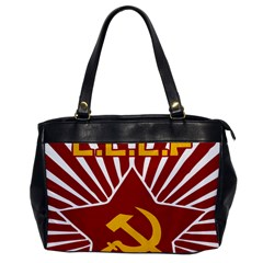 Hammer And Sickle Cccp Oversize Office Handbag (one Side) by youshidesign