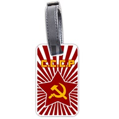 Hammer And Sickle Cccp Luggage Tag (one Side) by youshidesign