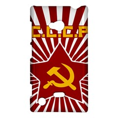 Hammer And Sickle Cccp Nokia Lumia 720 Hardshell Case by youshidesign