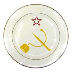 Cccp Mouse Pen Porcelain Display Plate by youshidesign