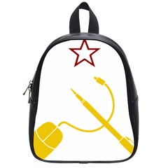 Cccp Mouse Pen School Bag (small) by youshidesign