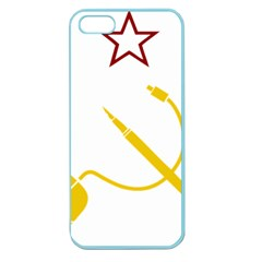 Cccp Mouse Pen Apple Seamless Iphone 5 Case (color) by youshidesign