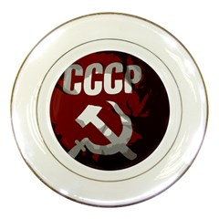 Cccp Soviet Union Flag Porcelain Plate by youshidesign