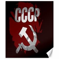Cccp Soviet Union Flag Canvas 8  X 10  by youshidesign