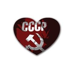 Cccp Soviet Union Flag Heart Coaster (4 Pack) by youshidesign