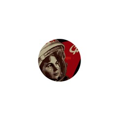 Soviet Union In Space 1  Mini Button by youshidesign