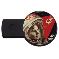 Soviet Union In Space 1GB USB Flash Drive (Round) by youshidesign