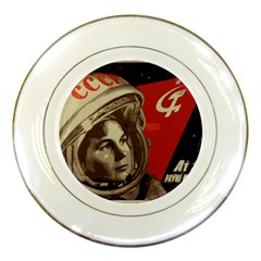 Soviet Union In Space Porcelain Display Plate by youshidesign