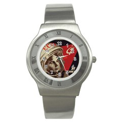 Soviet Union In Space Stainless Steel Watch (unisex) by youshidesign