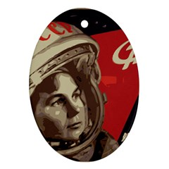 Soviet Union In Space Oval Ornament (two Sides) by youshidesign