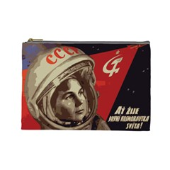 Soviet Union In Space Cosmetic Bag (large) by youshidesign
