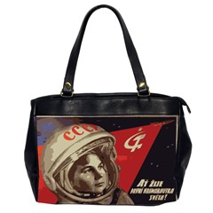 Soviet Union In Space Oversize Office Handbag (two Sides) by youshidesign
