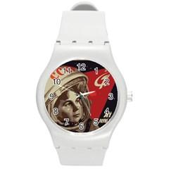 Soviet Union In Space Plastic Sport Watch (medium) by youshidesign