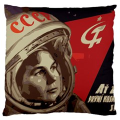Soviet Union In Space Large Cushion Case (two Sided)  by youshidesign