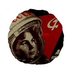 Soviet Union In Space 15  Premium Round Cushion  by youshidesign