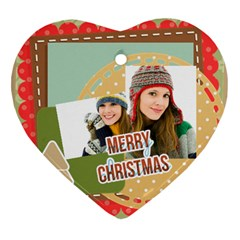 Merry Christmas By Merry Christmas   Heart Ornament (two Sides)   36o1o88f6kgb   Www Artscow Com Back