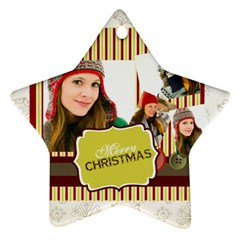 Merry Christmas By Merry Christmas   Star Ornament (two Sides)   O1ekn20xw1hh   Www Artscow Com Front