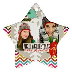 Merry Christmas By Merry Christmas   Star Ornament (two Sides)   Spkrpk3dmfxr   Www Artscow Com Back