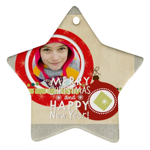 Merry Christmas By Merry Christmas   Ornament (star)   Uoy7j64iiglm   Www Artscow Com Front