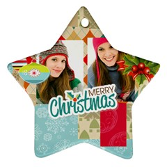 Merry Christmas By Merry Christmas   Star Ornament (two Sides)   Avbhcw986z2n   Www Artscow Com Front