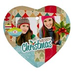 merry christmas - Heart Ornament (Two Sides)