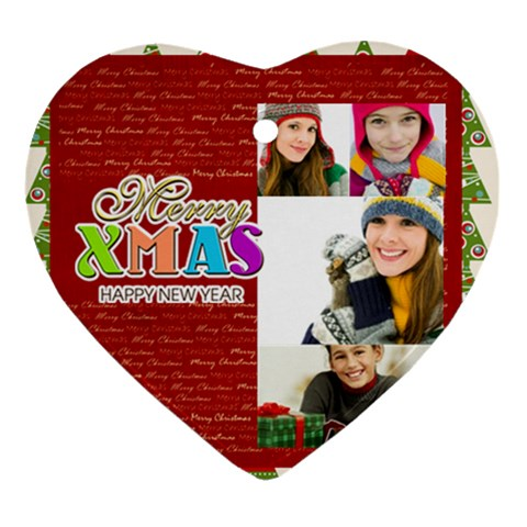 Merry Christmas By Merry Christmas   Ornament (heart)   7s8uvbfc95zo   Www Artscow Com Front