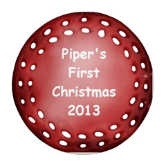 Piper Ornament Two Sides By Debra Macv   Round Filigree Ornament (two Sides)   Mqc8id31pn97   Www Artscow Com Back