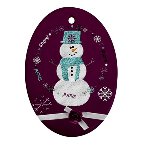 Winter By Renae Matney   Ornament (oval)   2gr5wvg6m43i   Www Artscow Com Front