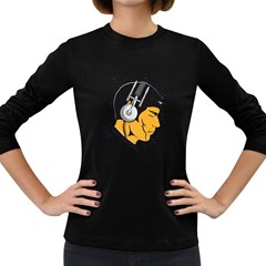 Space Beats Womens' Long Sleeve T-shirt (Dark Colored)