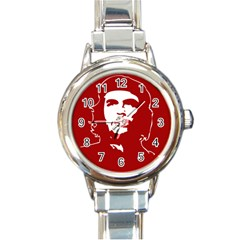 Chce Guevara, Che Chick Round Italian Charm Watch by youshidesign