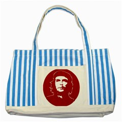 Chce Guevara, Che Chick Blue Striped Tote Bag by youshidesign