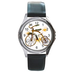 Tree Cycle Round Metal Watch (silver Rim) by Contest1753604