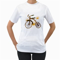Tree Cycle Womens  T-shirt (White) by Contest1753604