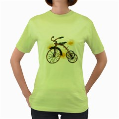 Tree Cycle Womens  T-shirt (Green) by Contest1753604