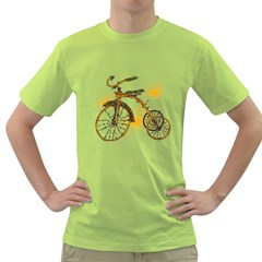 Tree Cycle Mens  T Shirt (green) by Contest1753604