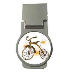 Tree Cycle Money Clip (round)