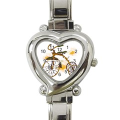 Tree Cycle Heart Italian Charm Watch  by Contest1753604