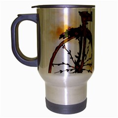 Tree Cycle Travel Mug (Silver Gray) by Contest1753604