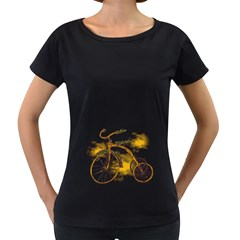 Tree Cycle Womens' Maternity T-shirt (Black) by Contest1753604