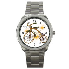 Tree Cycle Sport Metal Watch by Contest1753604