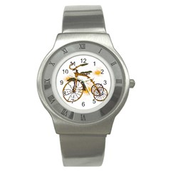 Tree Cycle Stainless Steel Watch (unisex) by Contest1753604