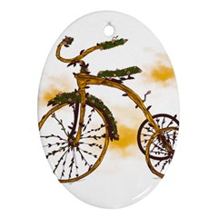 Tree Cycle Oval Ornament (two Sides) by Contest1753604