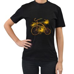 Tree Cycle Womens' T Shirt (black) by Contest1753604