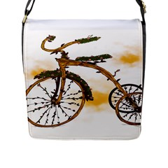 Tree Cycle Flap Closure Messenger Bag (large) by Contest1753604
