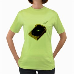 Space Jam Womens  T Shirt (green) by Contest1753604